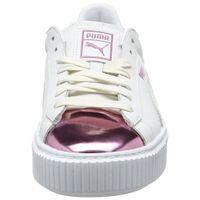 Puma Basket Platform Metallic Sneaker Damen Mädchen Schuhe 366169 04