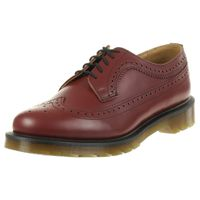Dr. Martens 3989 smooth Cherry Red Wingtip Brogue Halbschuhe rot Leder