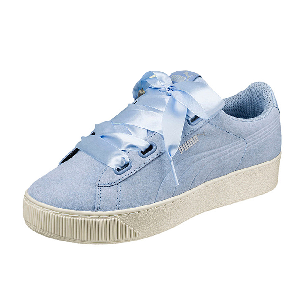 Puma Vikky Platform Ribbon S leather Sneaker Damen Schuhe 366418 04 ...