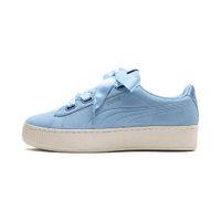 Puma Vikky Platform Ribbon S leather Sneaker Damen Schuhe 366418 04 blau