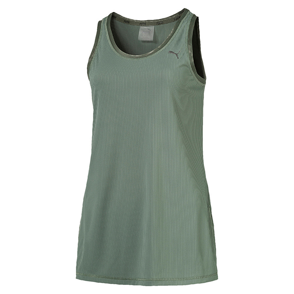 PUMA Explosive Ribbed Tank Top Damen Trainingsshirt grün