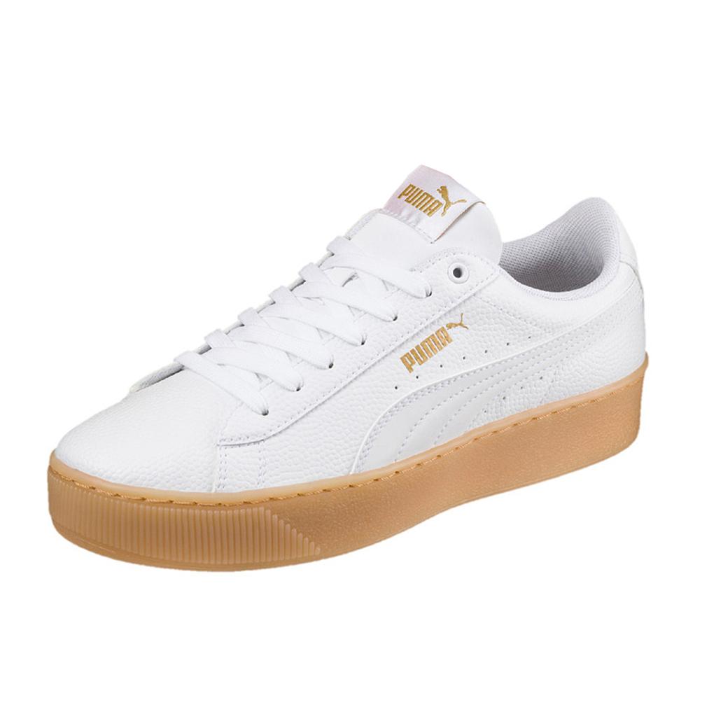 Puma Vikky Platform VT Sneaker Damen Schuhe 366805 01 weiss