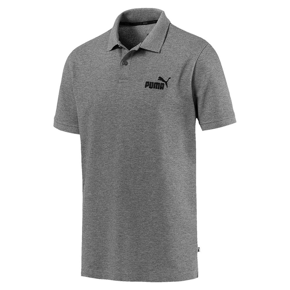 puma herren ess pique polo shirt grau 851759 herren. Black Bedroom Furniture Sets. Home Design Ideas