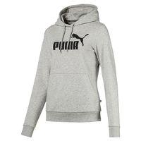 PUMA ESS Logo Hoody TR Damen Sweatshirt Kapuzenpullover grau