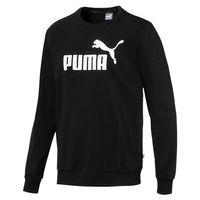 PUMA Essentials Crew Sweat TR Big Logo Herren Sweatshirt Schwarz 851750 01