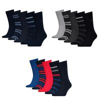 5 Paar Tommy Hilfiger Herren TH Men Duo Stripes Giftbox 5P Gr. 39 - 46 Business Socken Geschenkbox