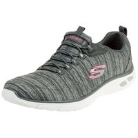 Skechers Relaxed Fit EMPIRE D'LUX Damen Sneaker Air cooled Memory Foam grau 12820