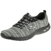 Skechers Relaxed Fit EMPIRE D'LUX Damen Sneaker Air cooled Memory Foam schwarz 12820