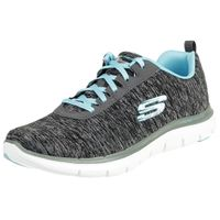 Skechers Flex Appeal 2.0 Damen Fitnessschuhe Light weight schwarz