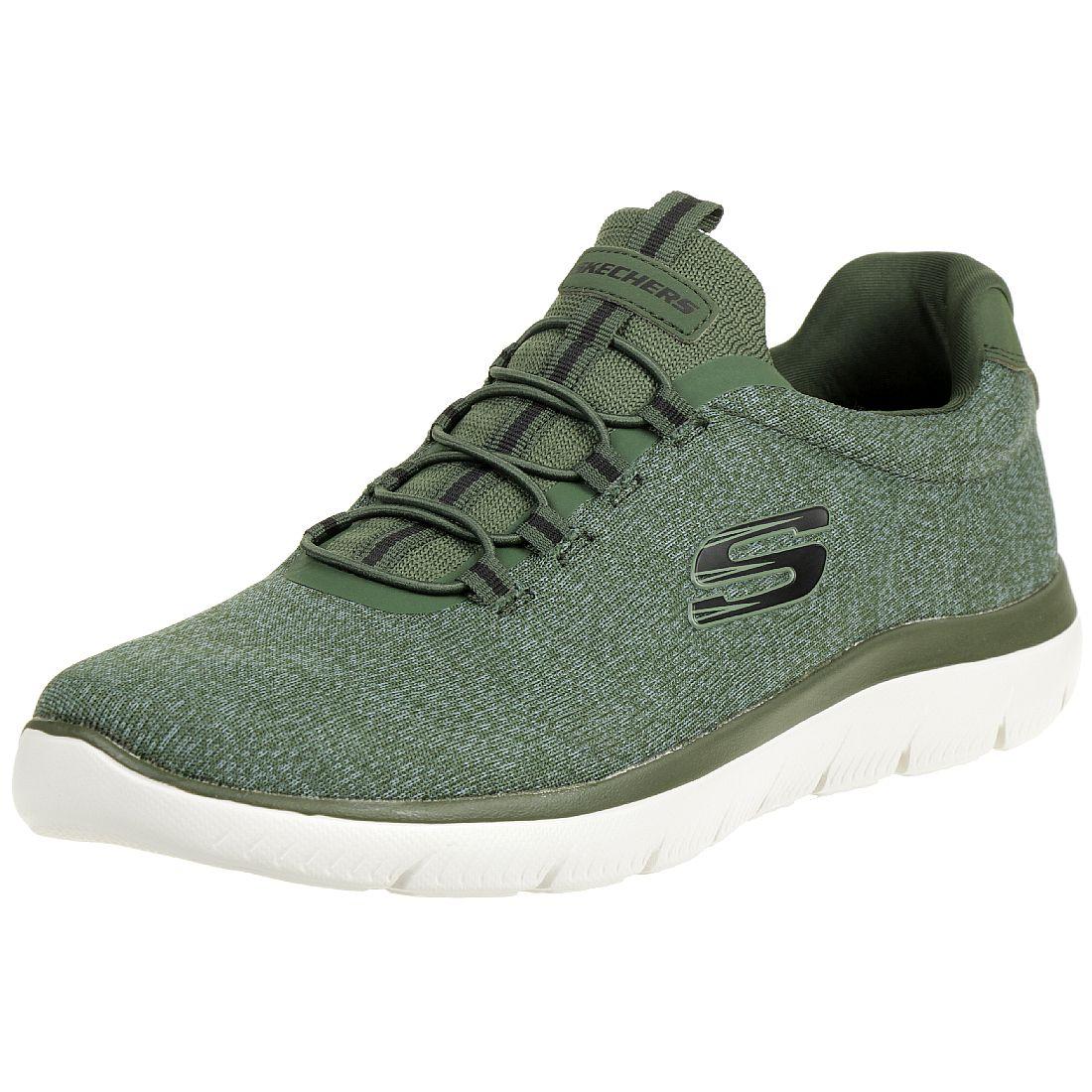 Skechers Sport Mens SUMMITS FORTON Sneakers Herren Schuhe Schwarz, Schuhgröße:41 EU