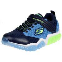 Skechers S Lights RAPID FLASH Jungen Trainer Sneaker Klettverschluss 90720 LED