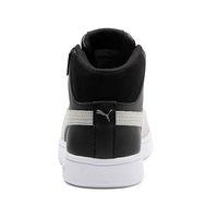 Puma Smash v2 Mid PureTEX JR Kinder Unisex Sneaker Schuh schwarz 367854 01
