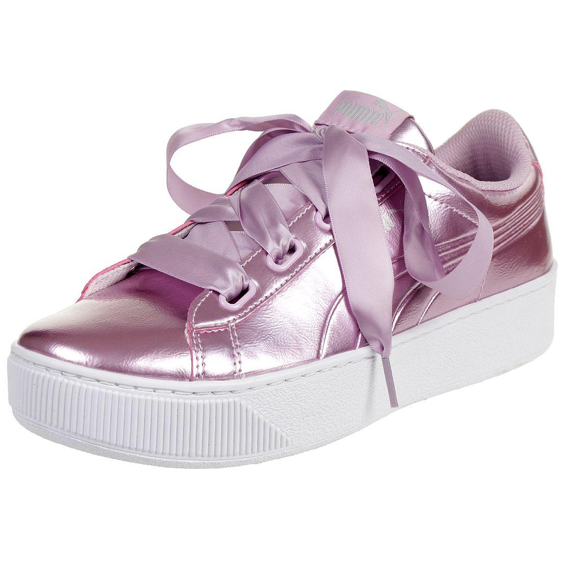 cc389e610f56dc Puma Vikky Platform Ribbon P Sneaker Damen Schuhe 366419 04 pink ...