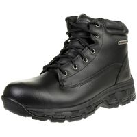 Skechers Morson SINATRO Stiefel Outdoor Schuhe Waterproof Leder RELAXED FIT BLK