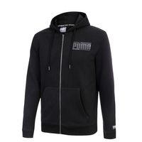 PUMA Athletics FZ Hoody FL Herren Sweatshirt Kapuzenpullover Full Zip schwarz 852318