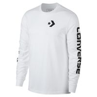 Converse Star Chevron T-Shirt Wordmark LS Long Sleeve Herren weiss
