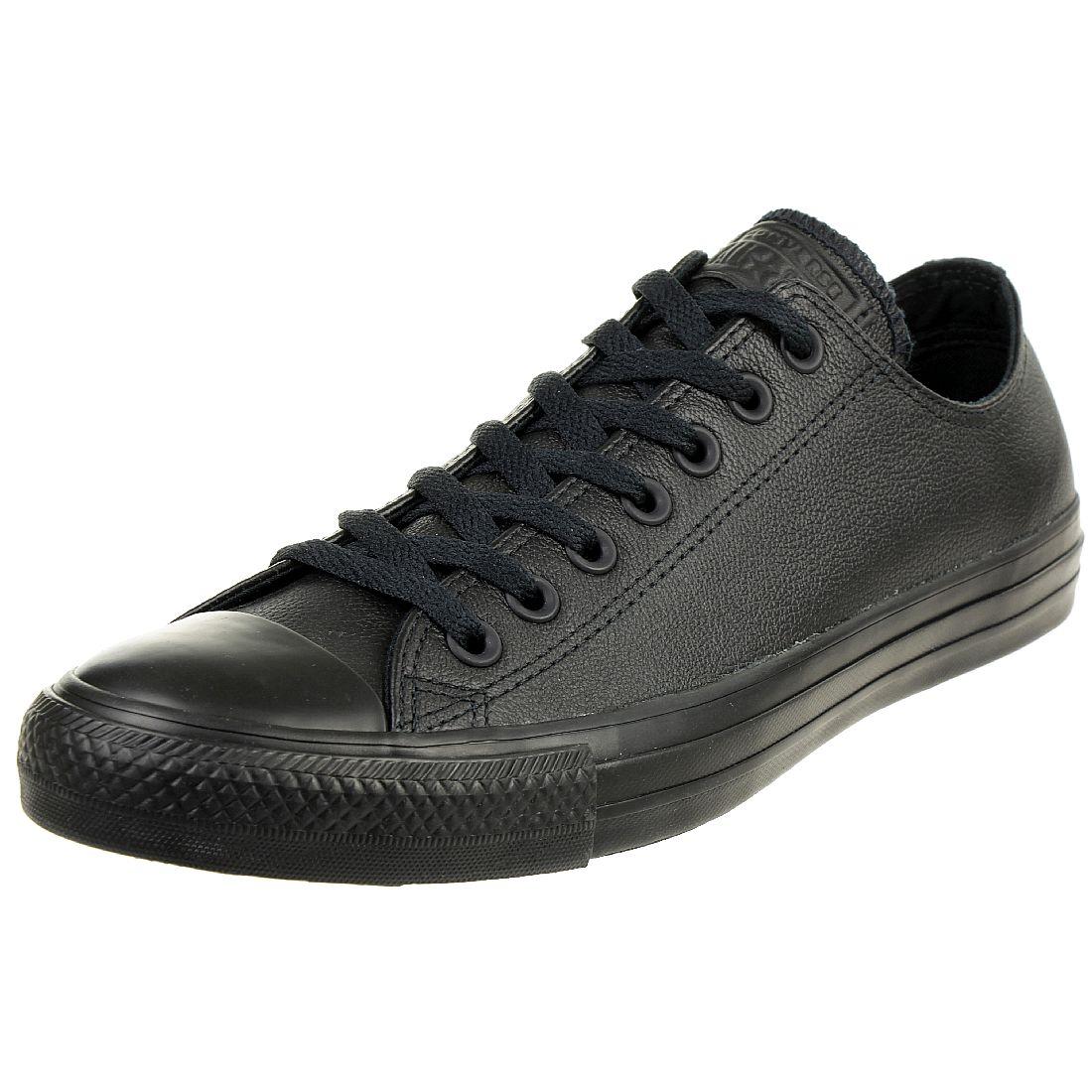 Converse C Taylor All Star OX Chuck Sneaker Leder mono schwarz ...