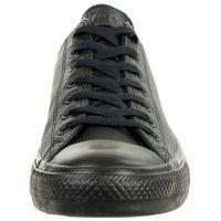 Converse C Taylor All Star OX Chuck Sneaker Leder mono schwarz 135253C