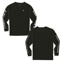 Converse Star Chevron T-Shirt Wordmark LS Long Sleeve Herren schwarz
