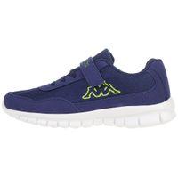 Kappa Unisex-Kinder Sneaker Follow K Blue/Lime