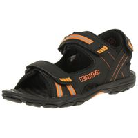 Kappa Unisex-Kinder Symi Kids Riemchensandalen 260685K black/orange