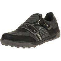 Kappa SASBY Herren Casual Sneaker Schuhe Klett schwarz 242653
