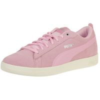 PUMA Smash Wns v2 SD Damen Low Boot Sneaker Violett Pale Pink Whisper Weiss