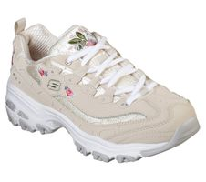 Skechers Sport Womens D'LITES BRIGHT BLOSSOMS Sneakers Damen Schuhe Beige
