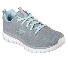 Skechers Sport Womens GRACEFUL TWISTED FORTUNE Sneakers Damen Schuhe Grau