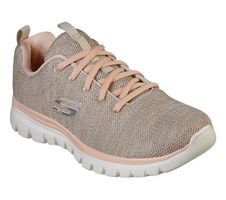 Skechers Sport Womens GRACEFUL TWISTED FORTUNE Sneakers Damen Schuhe Beige