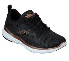 Skechers Sport Womens FLEX APPEAL 3.0 FIRST INSIGHT Sneakers Damen Schuhe Schwarz