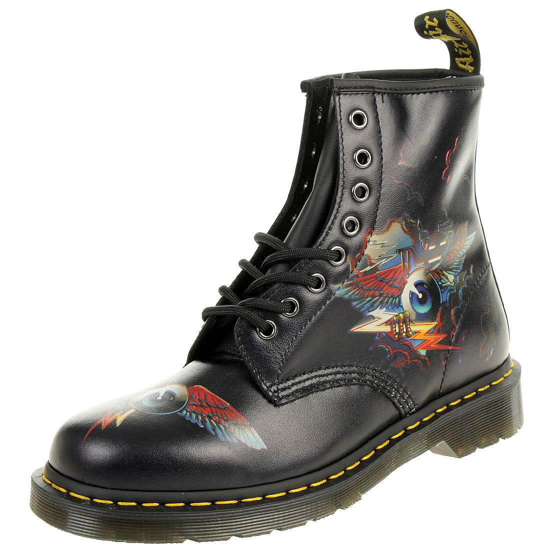 c3fe6542b519d0 Dr. Martens 1460 RG Eye Backhand Black Unisex Stiefel Boots Rick Griffin  schwarz