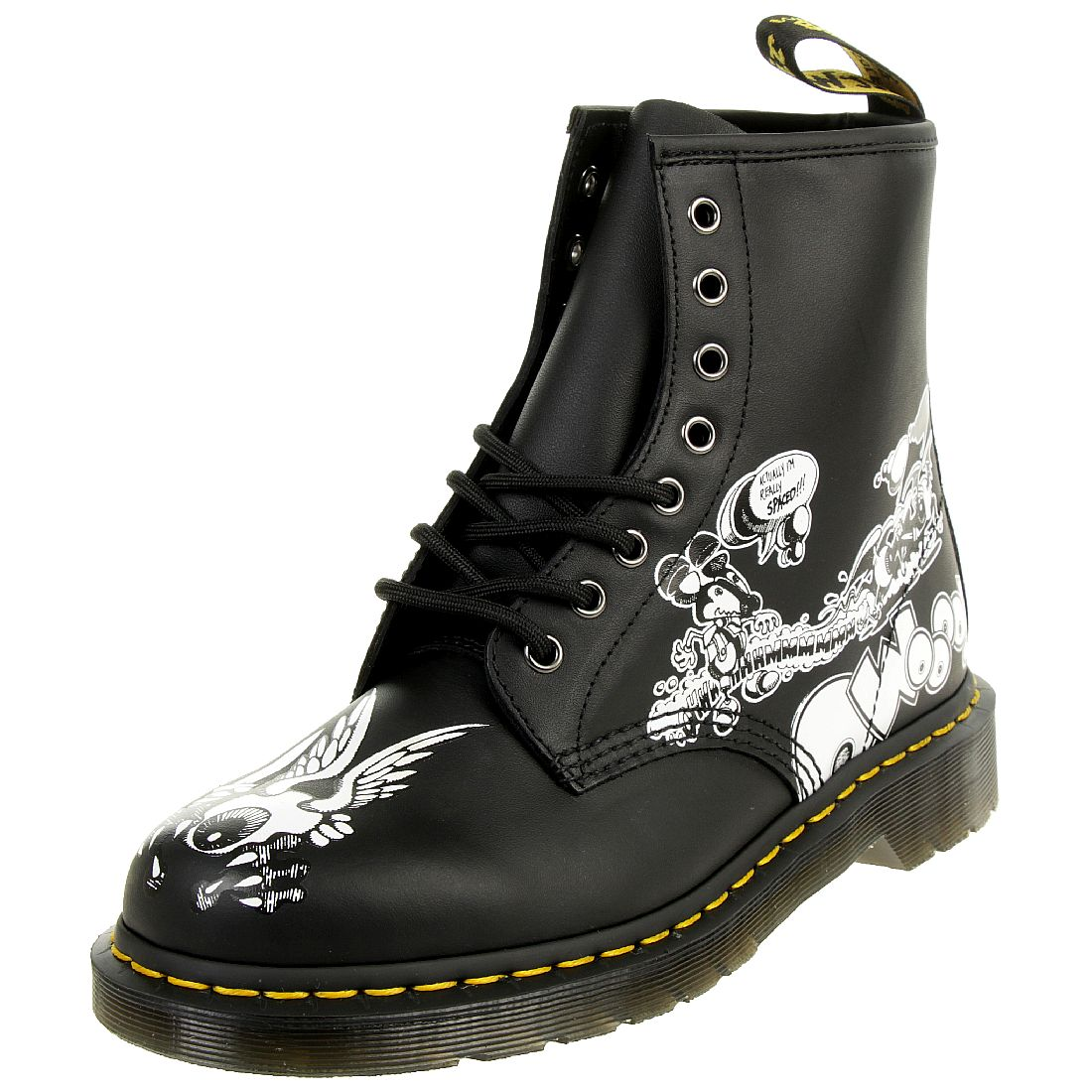 3a7b966b8e5c58 Dr. Martens 1460 RG Eye BW Backhand Black White Unisex Stiefel Boots Rick  Griffin schwarz