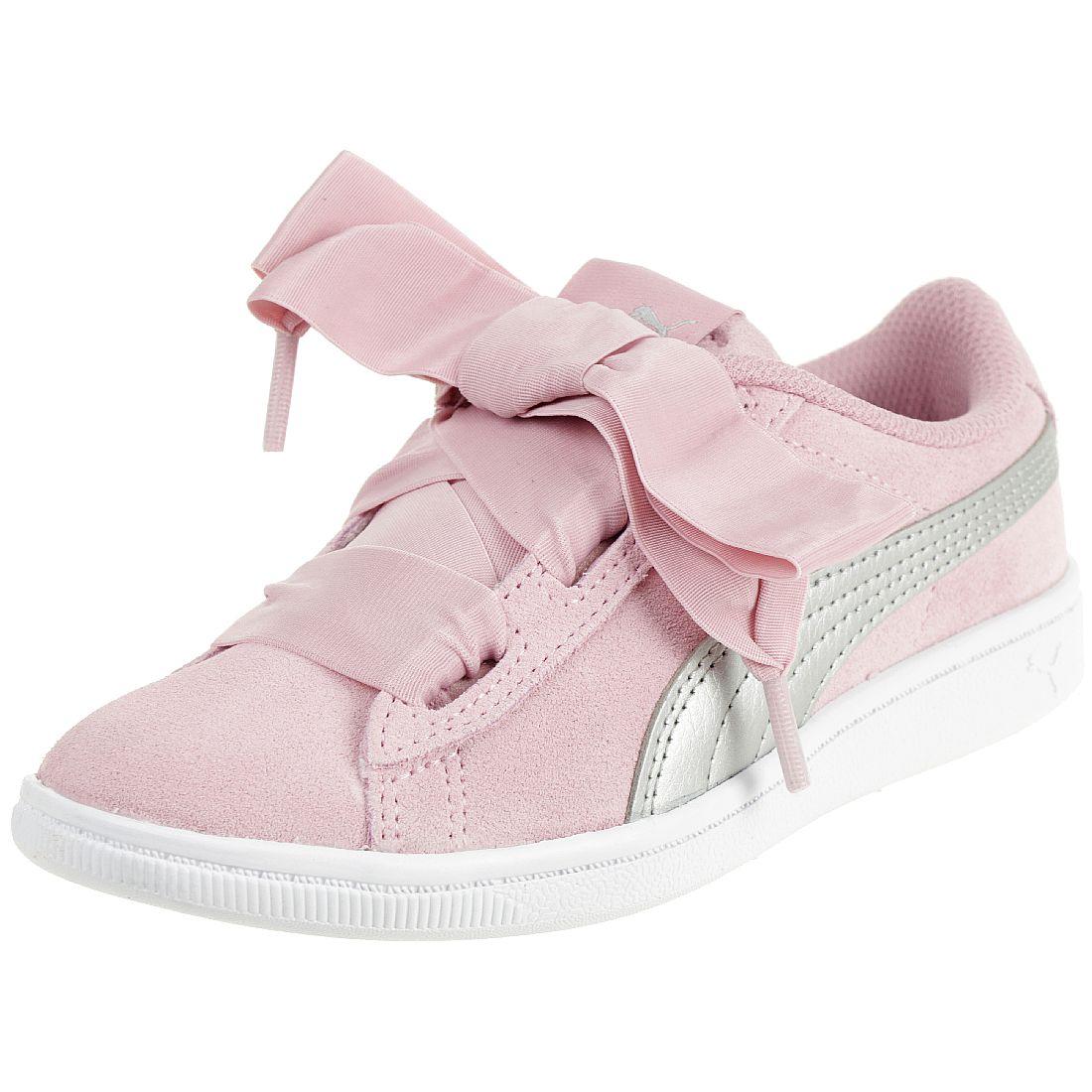 Puma Vikky Ribbon AC PS Sneaker Kinder Mädchen Schuhe Leder