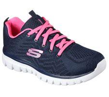 Skechers Sport Womens GRACEFUL GET CONNECTED Sneakers Frauen 12615 Blau