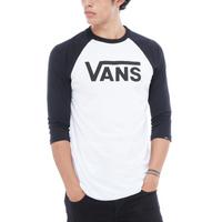 Vans Herren Classic Raglan Shirt White/Black