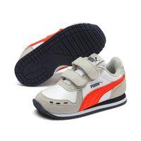 PUMA Cabana Racer SL V Inf Kinder Sneaker Klettverschluss weiss grau 351980 76