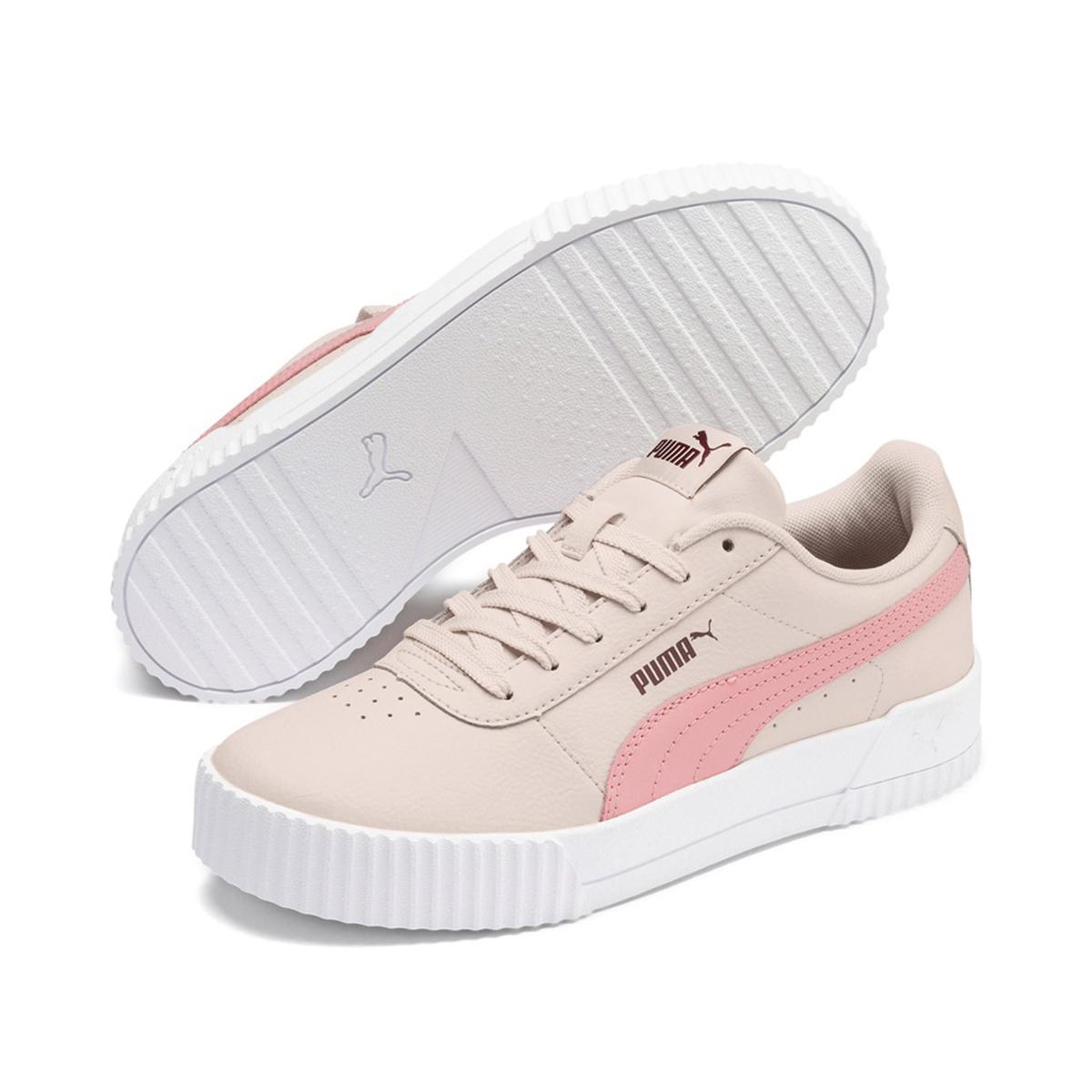 Puma Carina L Damen Sneaker Leder Schuhe Rosa 370325 05