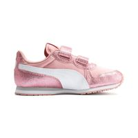 Details zu PUMA Cabana Racer Glitz V PS Kids Sneaker Schuhe Mädchen Rosa 370985