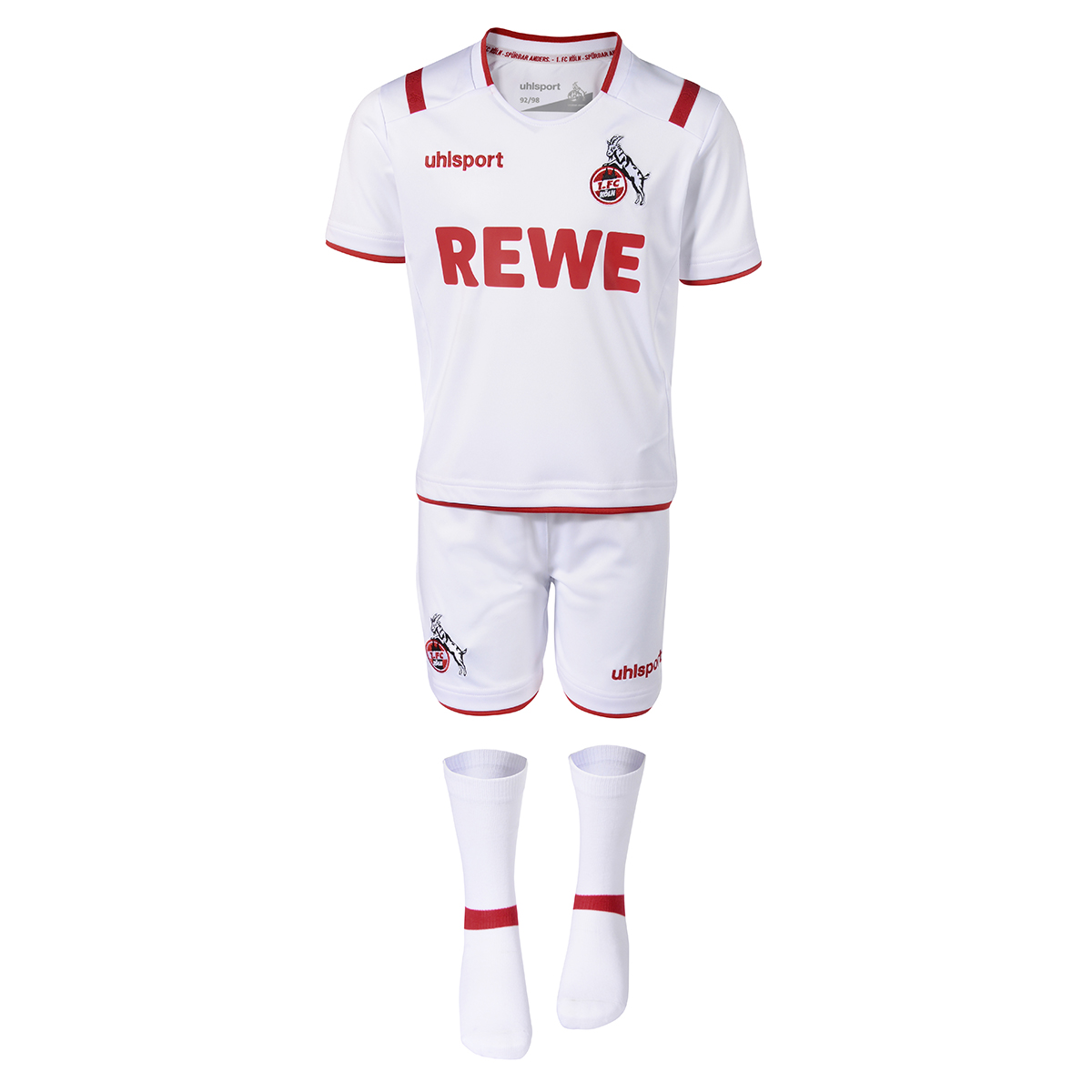 Uhlsport 1.FC Köln Mini Kit Logo Trikot Kinder Set Marke