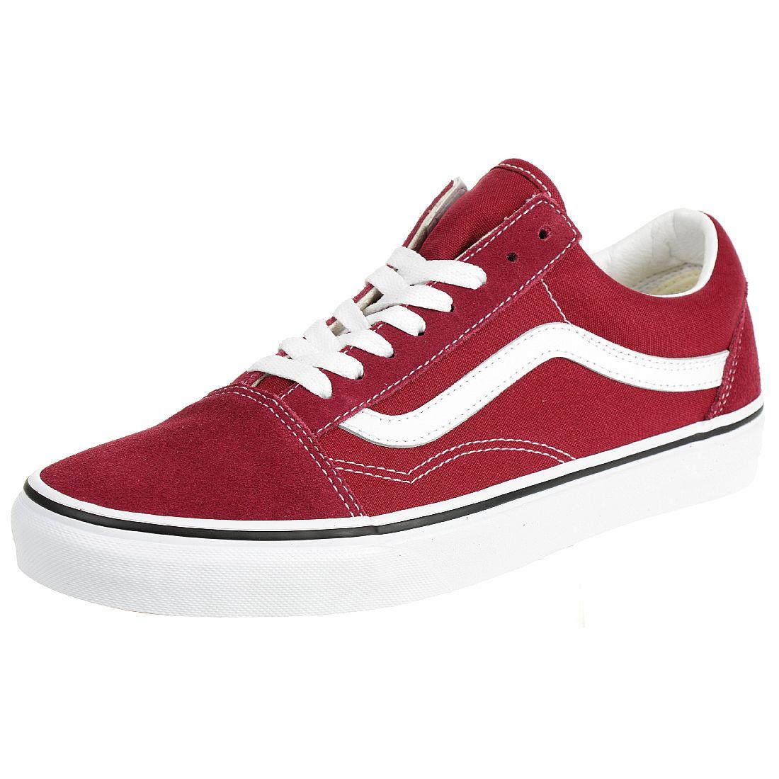 VANS Old Skool Sneaker Skate Schuhe rot Canvas Sneaker Kinder 35-36