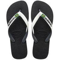 Havaianas H. BRASIL MIX Unisex Erwachsene Sandale Zehentrenner Badelatsche 4123206 schwarz