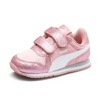 Details about Puma Cabana Racer Glitz V Ps Inf Trainers Shoes Baby Girl Pink 370986 02