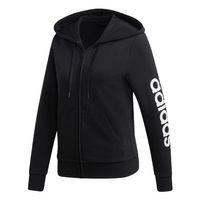 Adidas Damen Essentials Linear Kapuzenjacke Sweatjacke DP2401 Schwarz