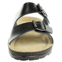 Rohde Damen Neustadt Pantolette Sandale Hausschuhe 1431 schwarz