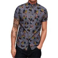 Superdry Herren Shoreditch Button Down Shirt Kurzarm Hemd