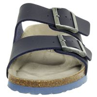 Fischer Markenschuh Kinder BIO-Pantolette Unisex Hausschuh Sandale 0530 Blau