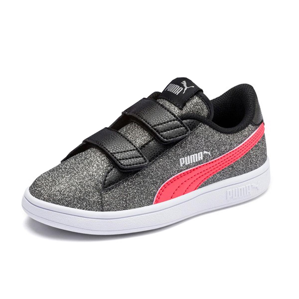 Puma Smash v2 Glitz GlamV PS Glitzer Kinder Mädchen Schuh Sneaker