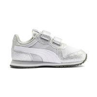 PUMA Cabana Racer Glitz V PS Inf Sneaker Schuhe Baby Mädchen Silber 370986 01