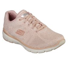 Skechers Sport Womens FLEX APPEAL 3.0 METAL WORKS Sneakers Women Pink